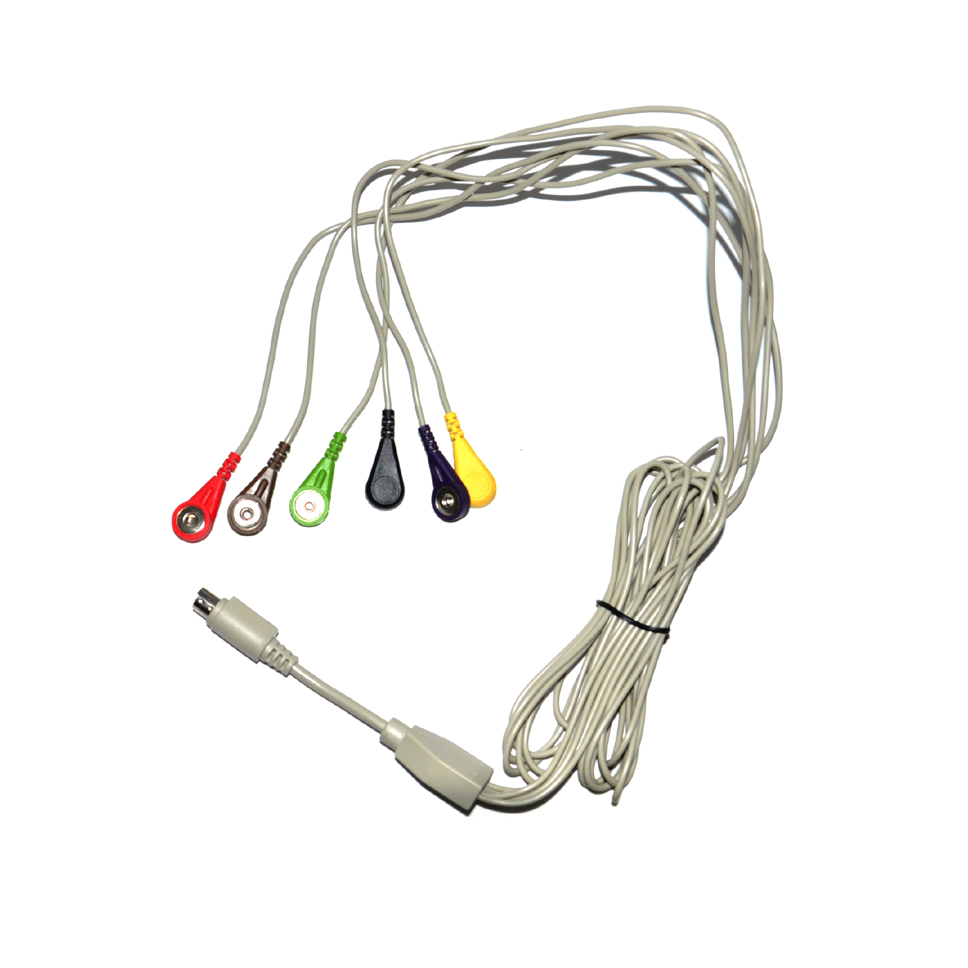 mini din 6pin to medical snap ecg cable