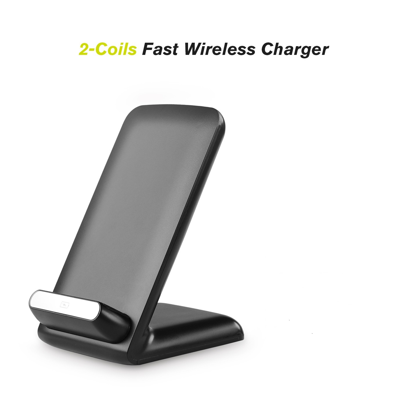 2 coils fast wireless charger. Black Bedroom Furniture Sets. Home Design Ideas