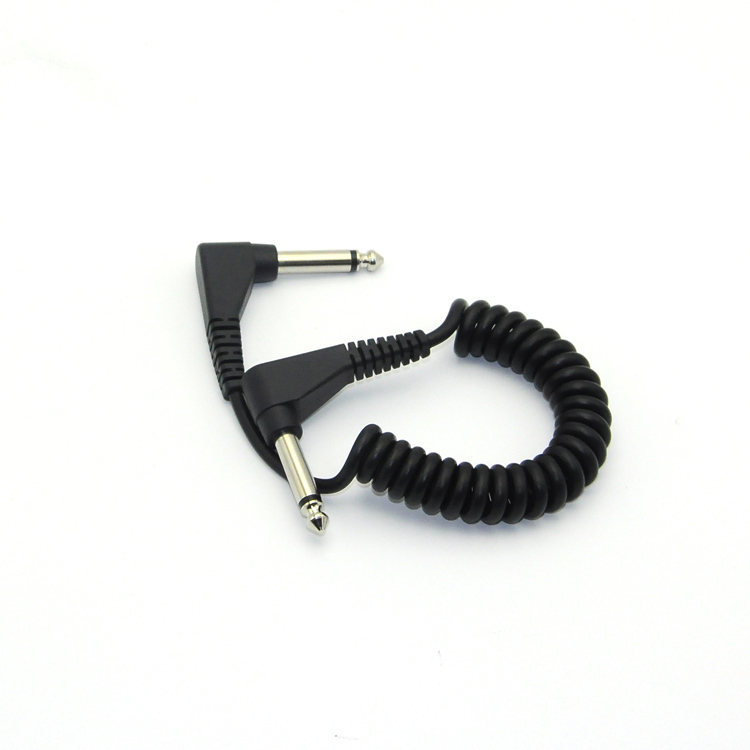 Φ6.35 stereo tone male 90 degree elbow guitar spring wire