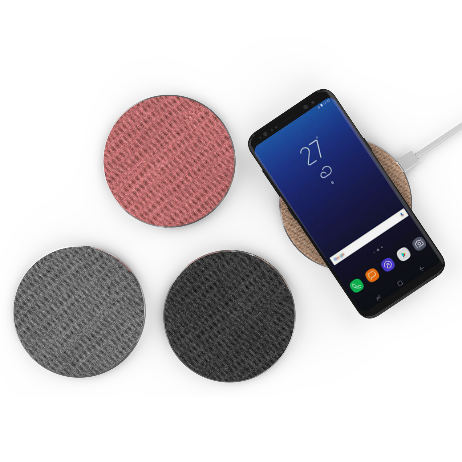 Fabric Wireless Fast Charger Charging Pad