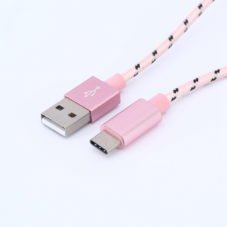Nylon Braided Mobile Phone Data Typec 2.0 Usb Cable