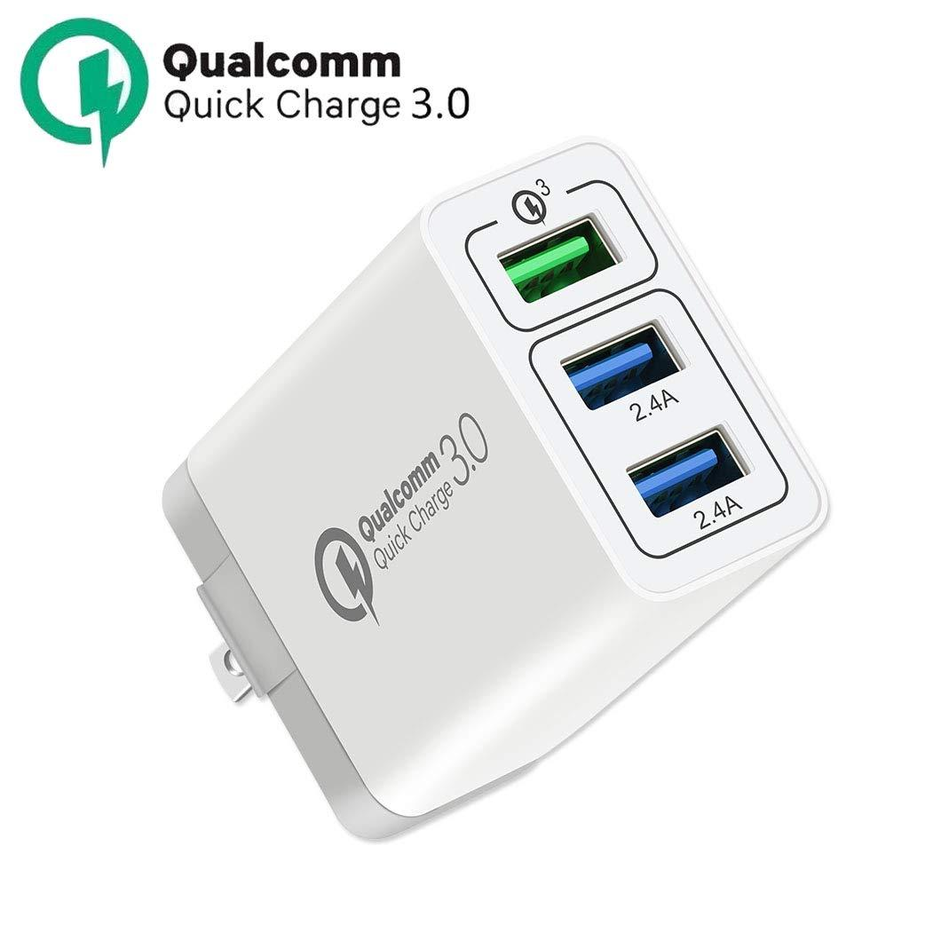 3-Port USB Wall Charger, 30W [QC 3.0 + 2 USB] Quick Charge