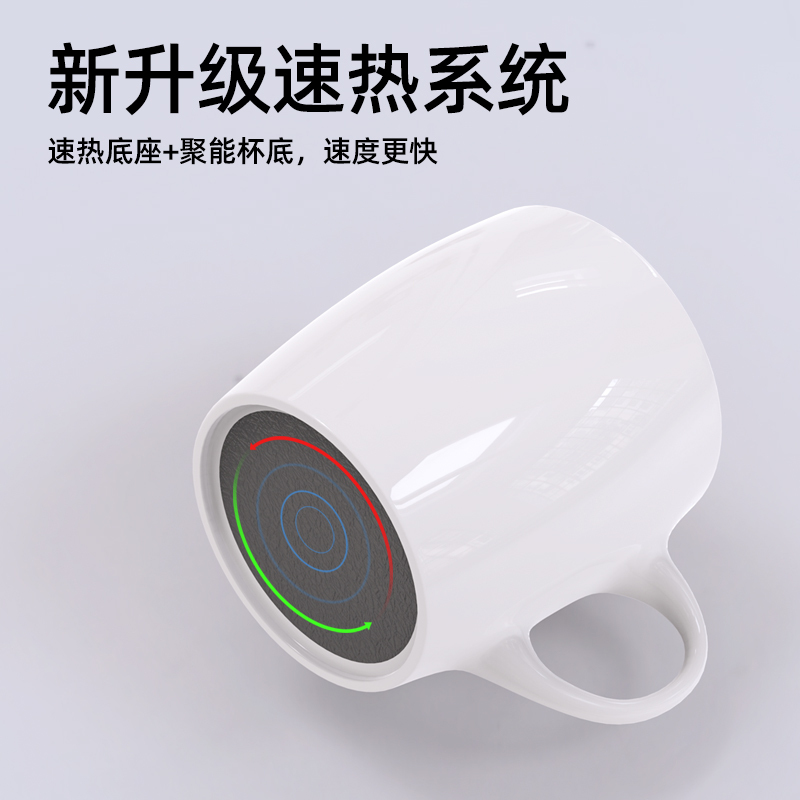 Wireless charging heating cup