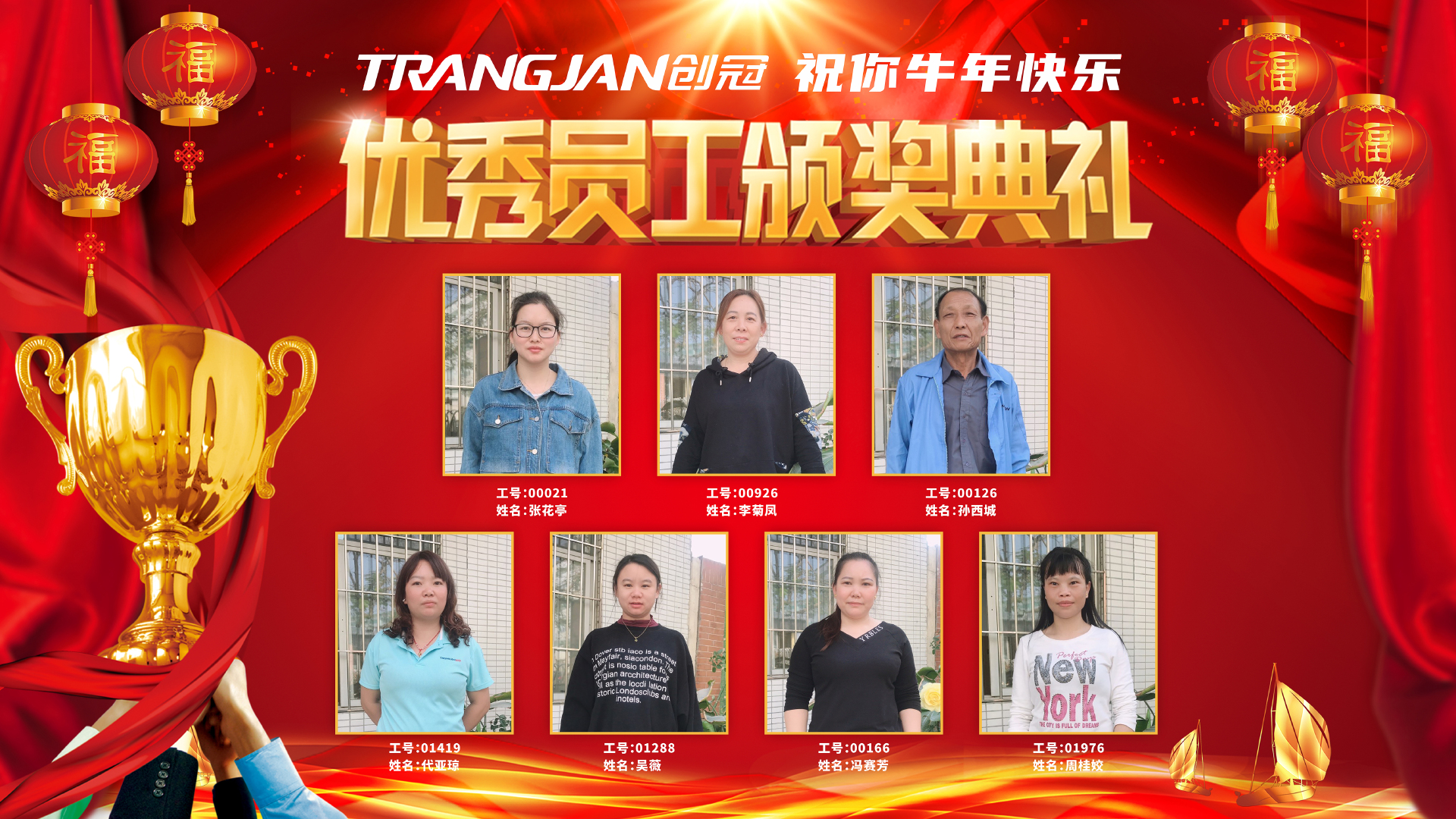 Trangjan's 2020 Excellent Staff Recognition