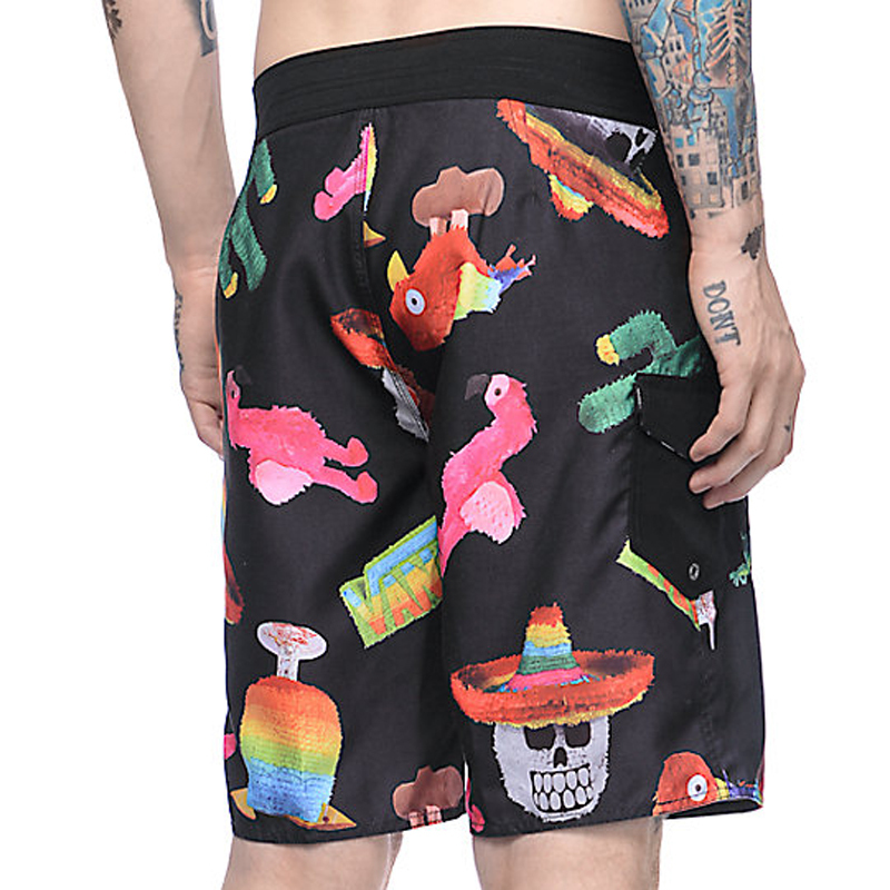 custom print fun board shorts supplier