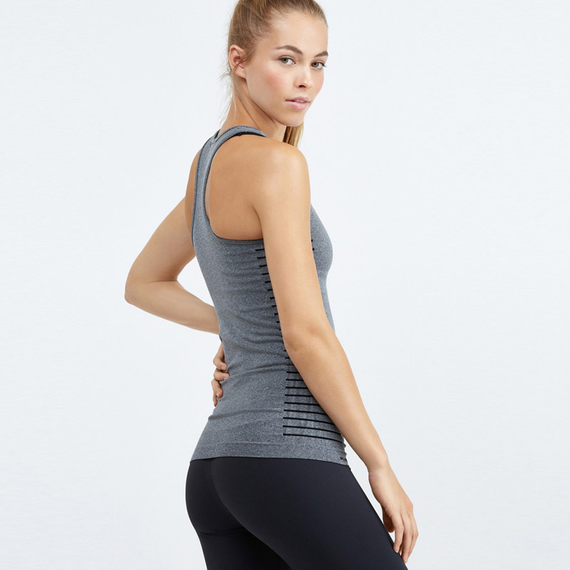 Wholesale MOQ 50 pcs  Grey girl yoga tank tops
