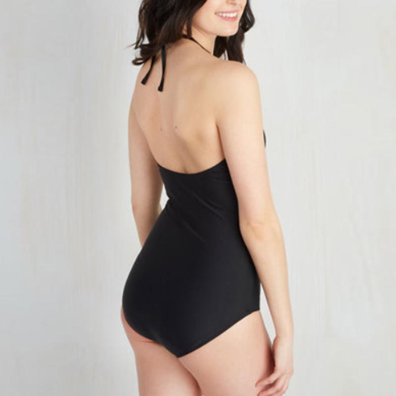black halter one piece bikini wholesale