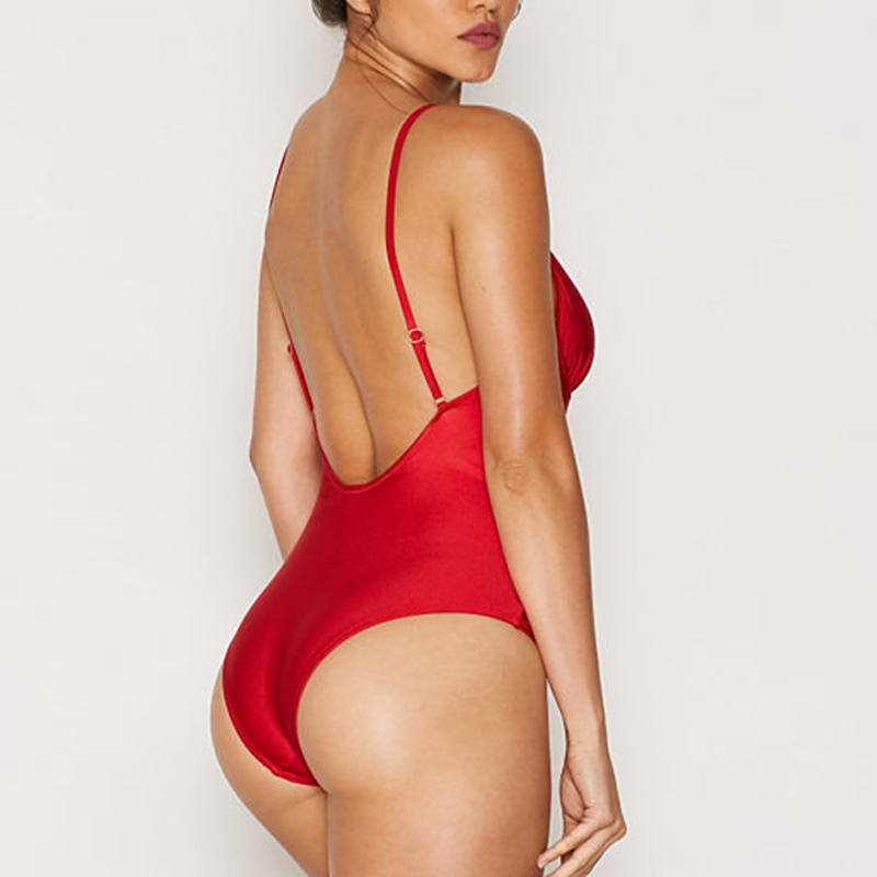 red bust bandage adjustable bikini one piece wholesale