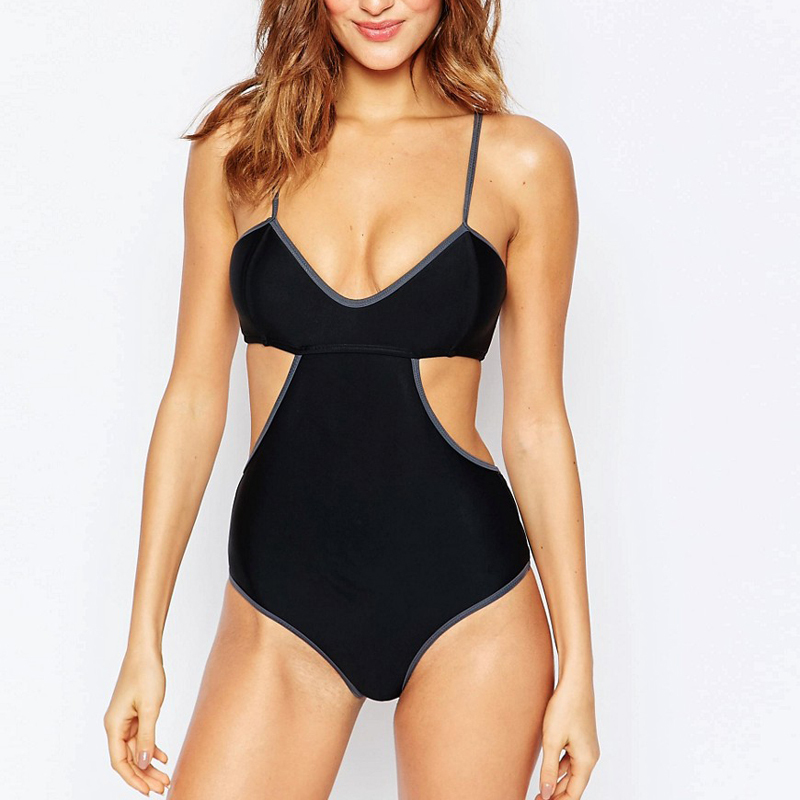 strap high cut stylish swimwear beach wear