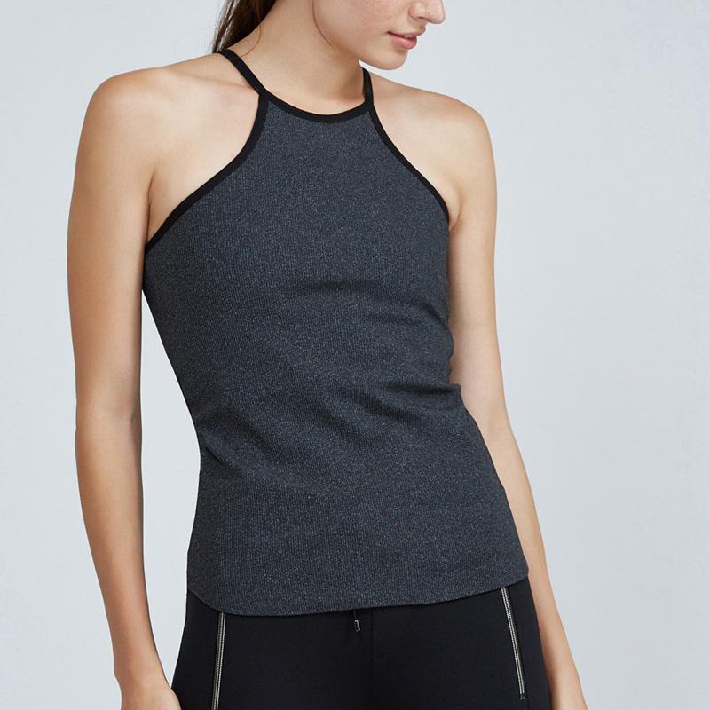棉氨纶瑜伽性感女装修身配件健身房背心