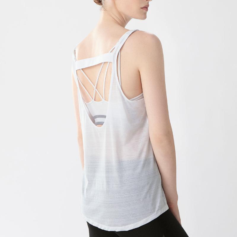 White plain wholesale girl tank tops