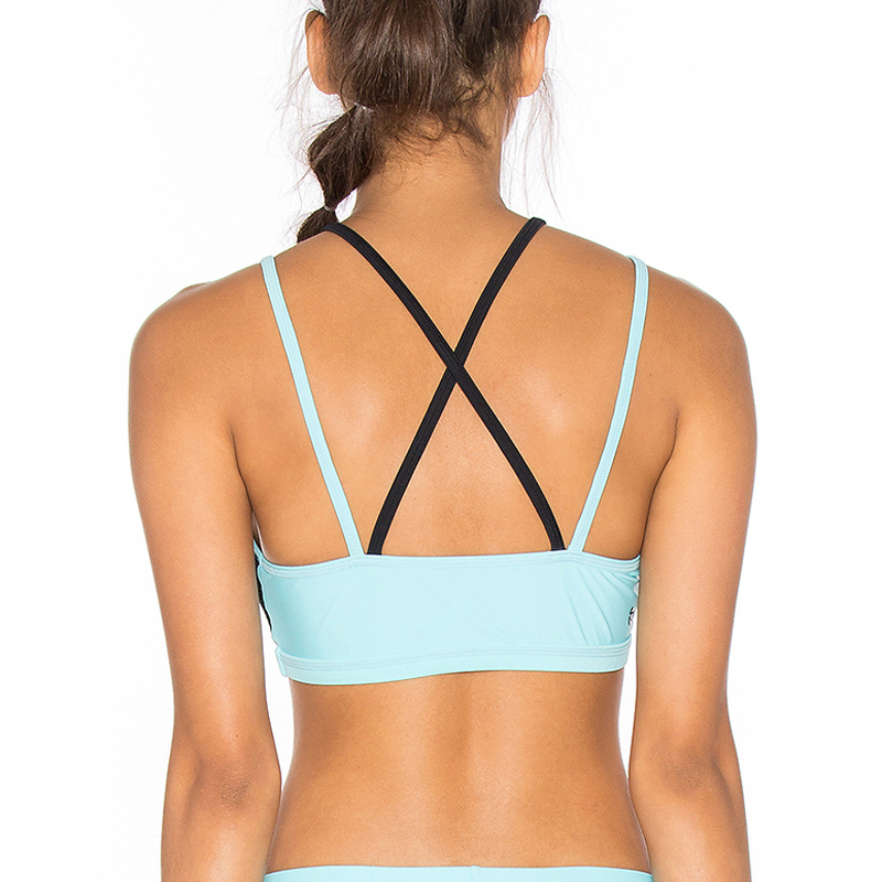 Black mesh sport bra yoga wear wholesale factory