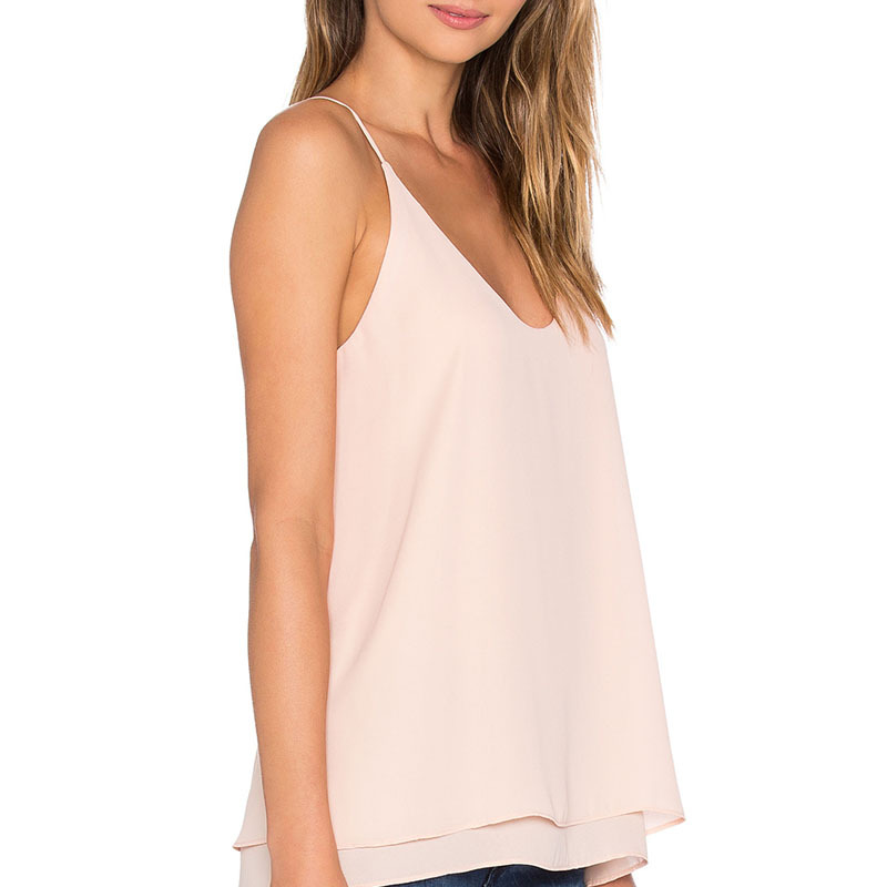 Chiffon lady office tank tops elegant women vests wholesale