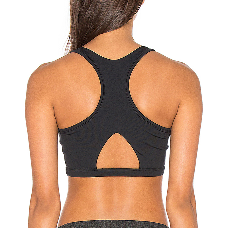 X back black bandage sports bra gym wear