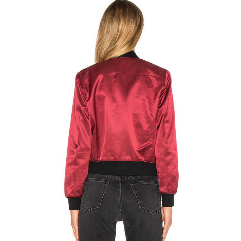 Women popular 100% polyester bomber jacket