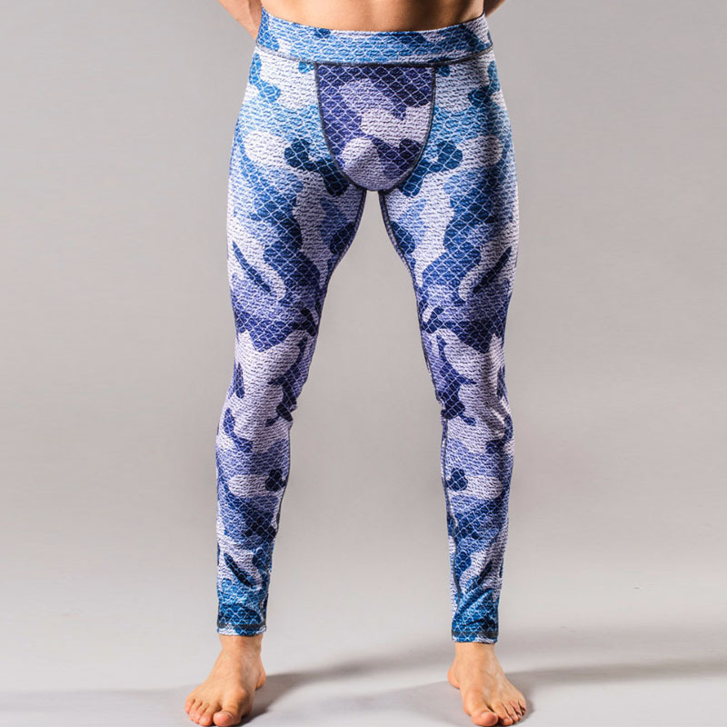 Men printing sport leggings gym pants