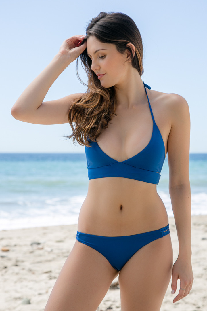 Blue beach wear swimwear custom wholesale bikini