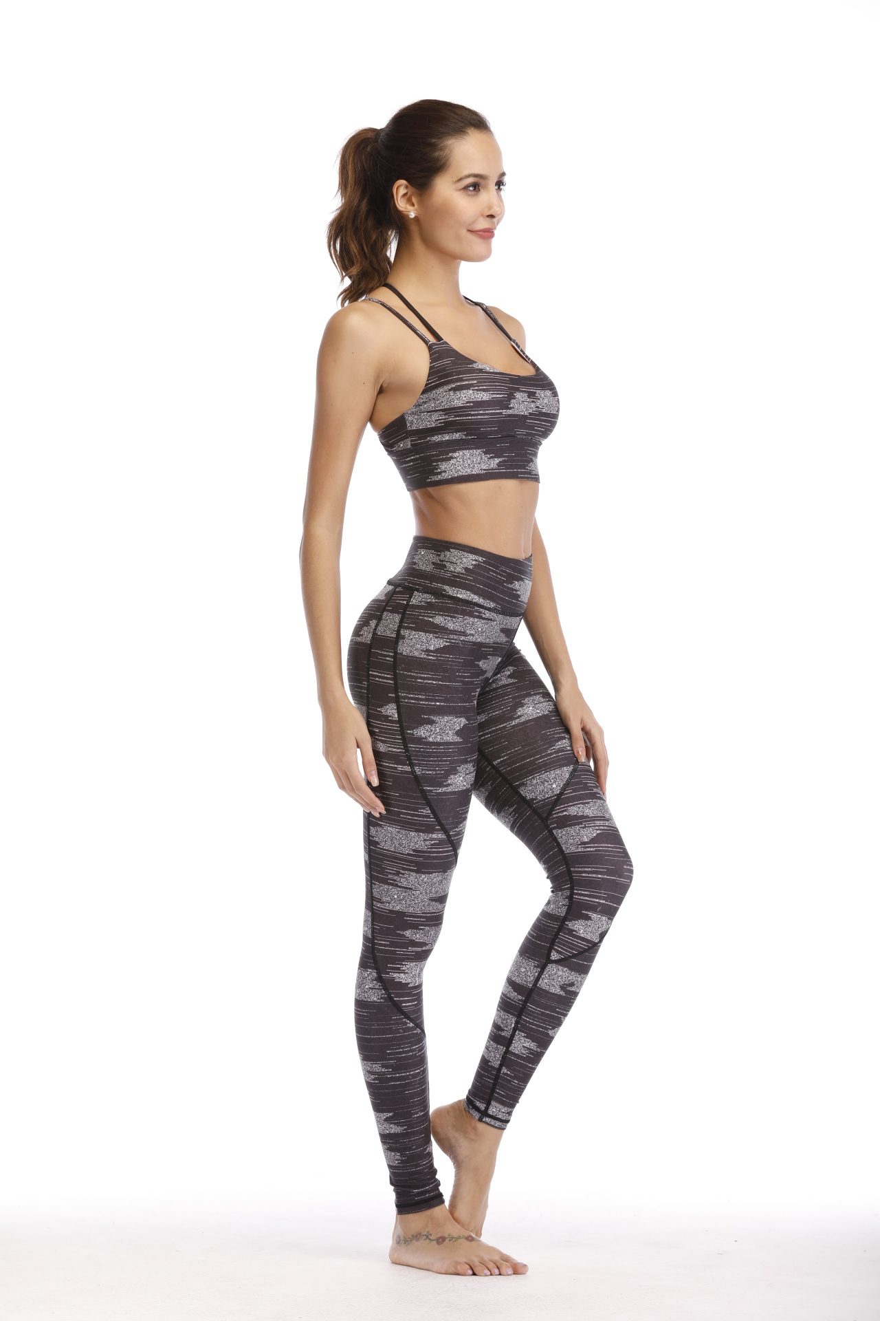 Sublimation Fitness Wear Women Yoga Set Bra And Leggings Wit