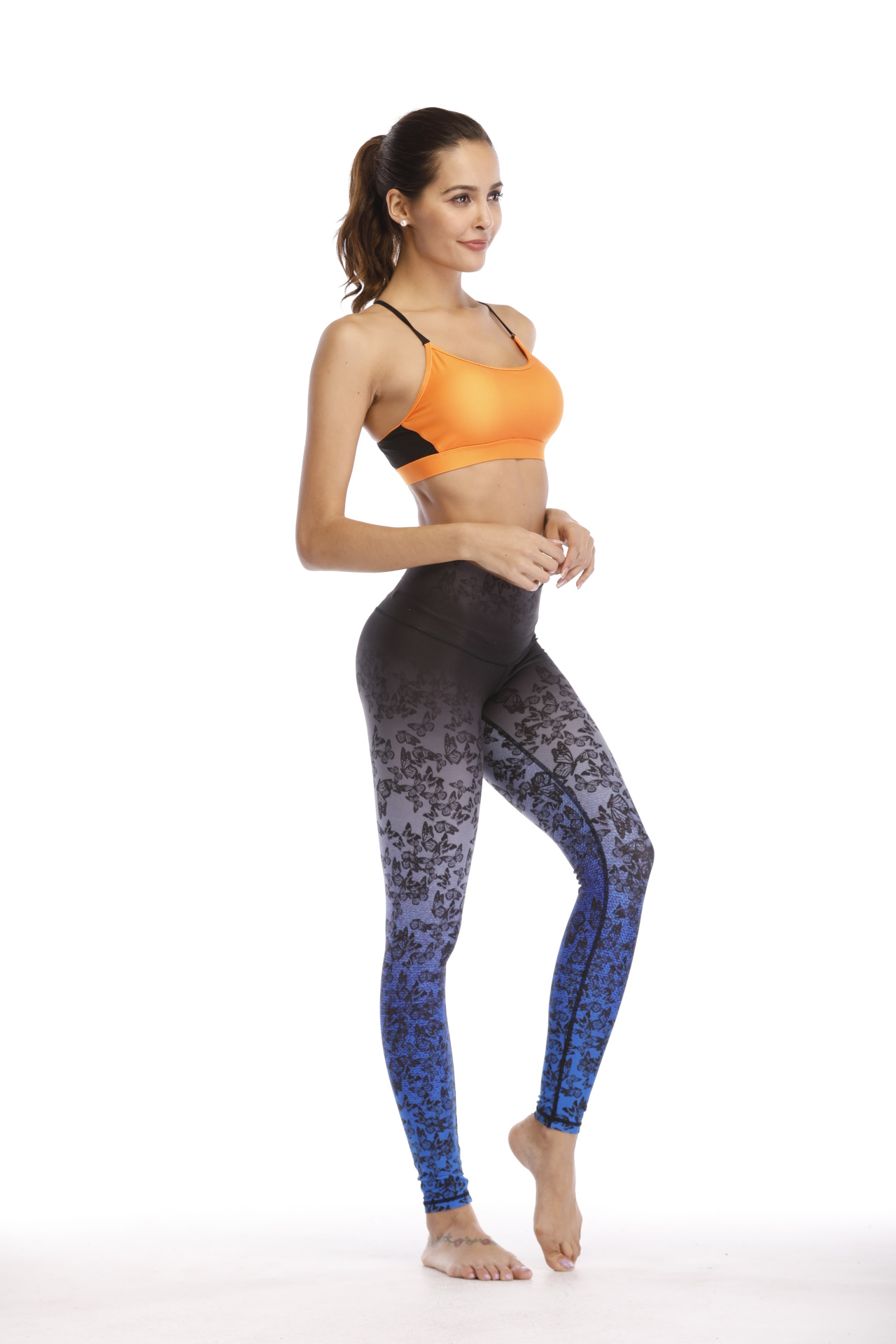 Women Sportswear Yoga Set Bra And Leggings Sublimation Print