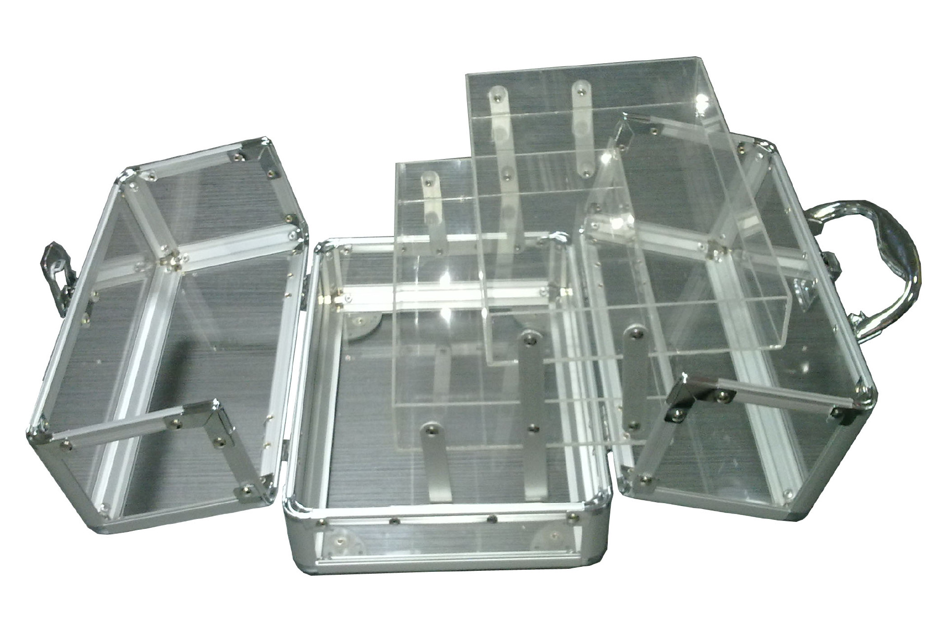 Transparent Acrylic Make Up Carrying Case with Transparent c