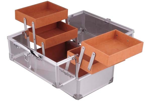 Cosmetic Case with Transparent Window and Trays - JM044