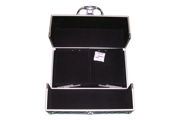 Wild Zebra Grain Make Up case with Two Extendable Trays  - J