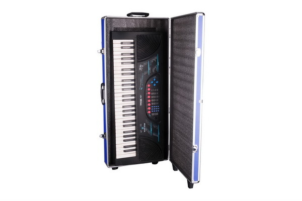 Piano Carrying Case With Wheel and Shockproof Foam - TO036