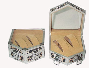 Display Case with Transparent Window  for Lovers' Watches- W