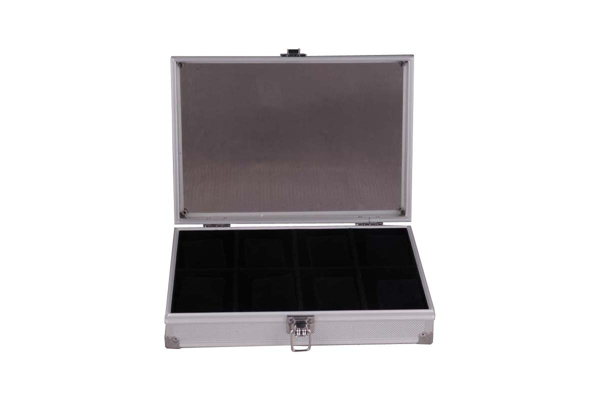Storage and Display Case for Watches and Jewelry with Transp
