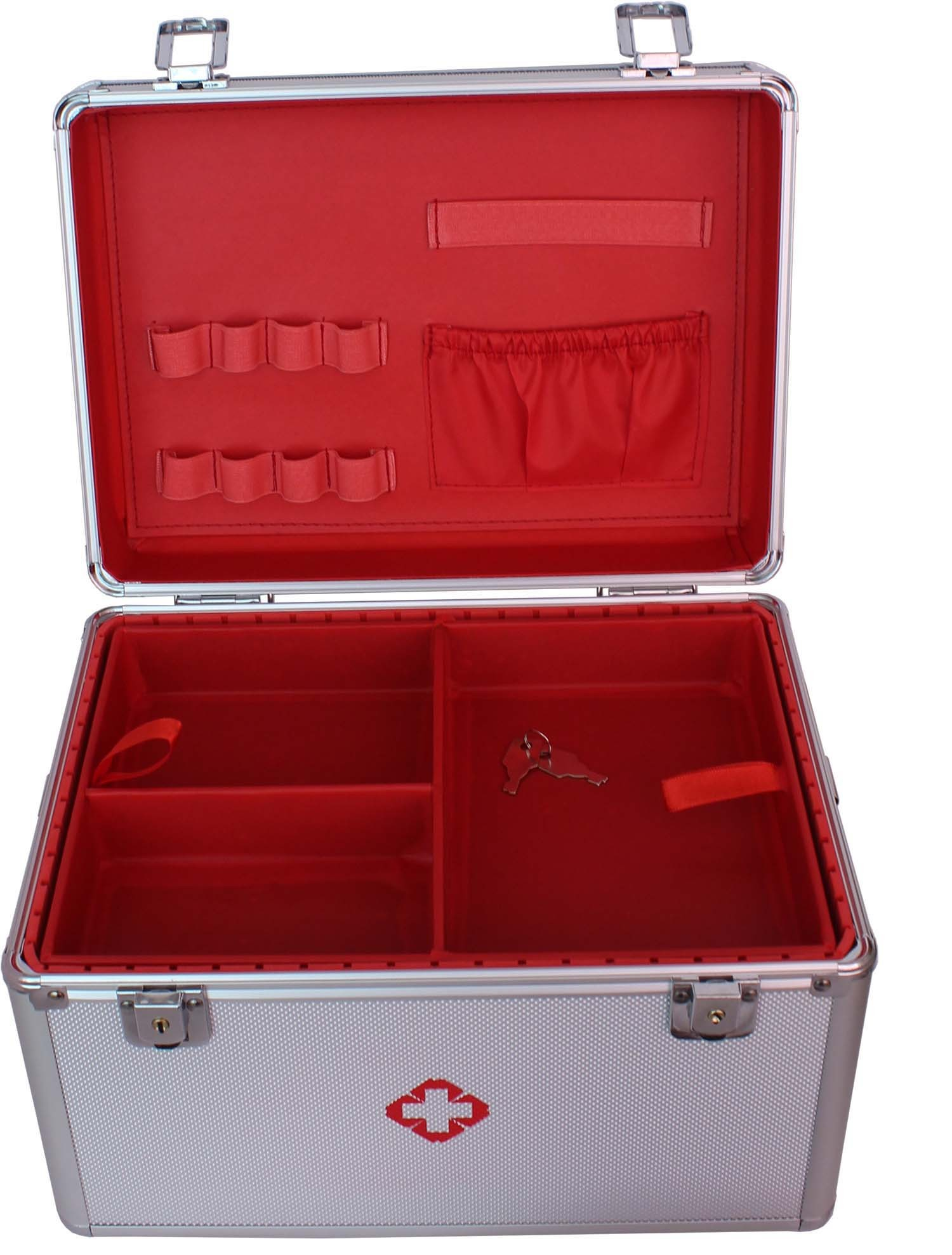 First Aid case with removable tray