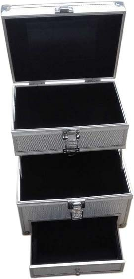 Cosmetic Carrying  Case with Drawer and Extendable Layer- JM