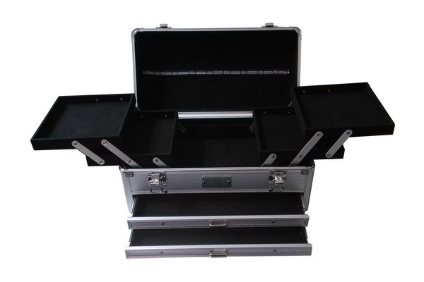 With Rail Tray Manicure and Beauty Carrying Case-JM066#