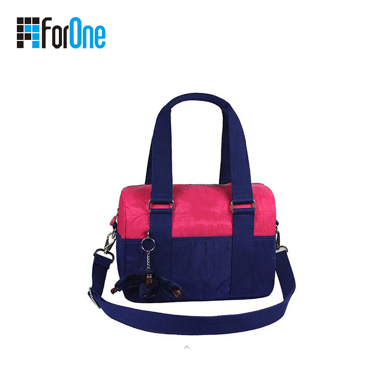Nylon Oxford Contrast Color Tote Cross Body Bag Manufacturer