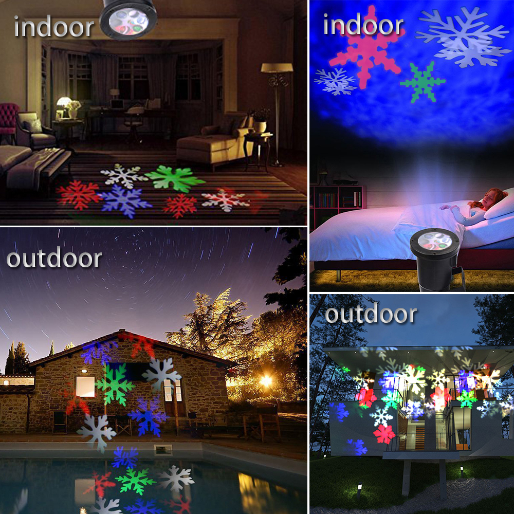 Colorful Snowflakes Light  Christmas Lamp Waterproof AC