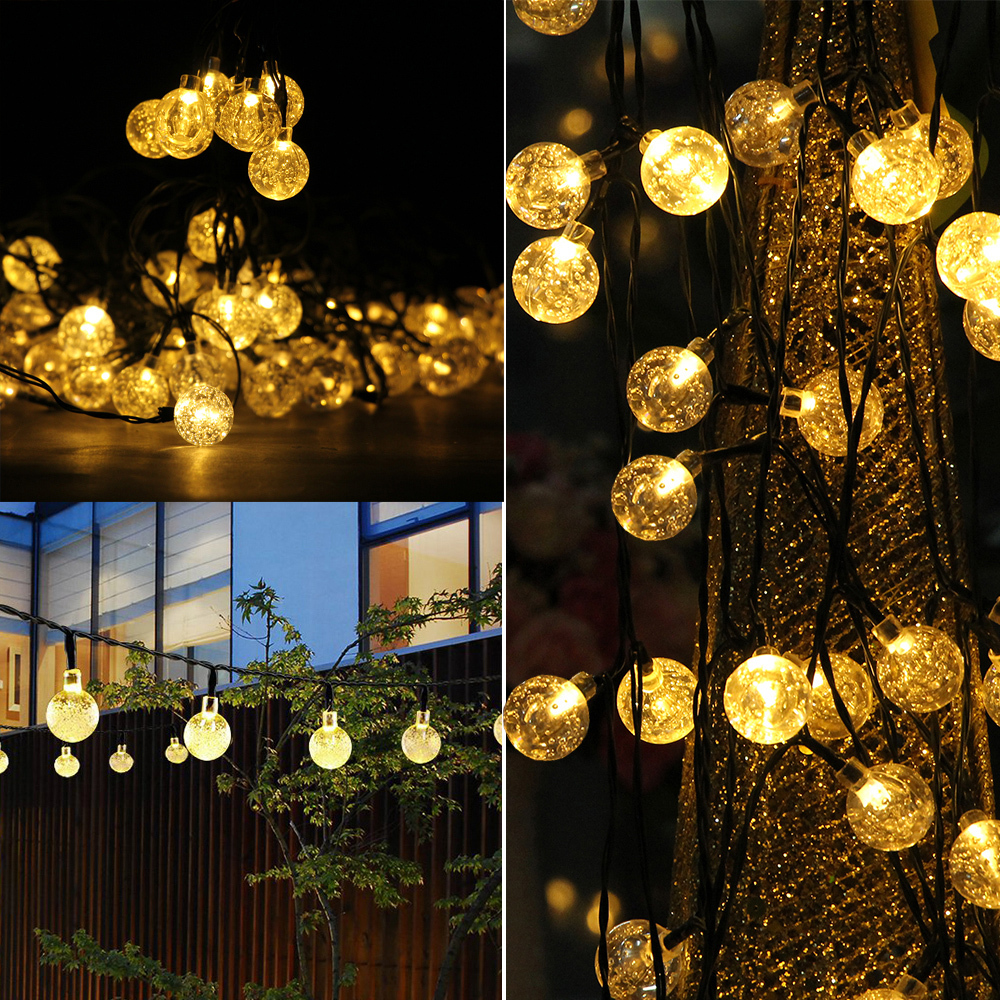15M 100LEDs Warm White Lights Bubble String Light Dimmable