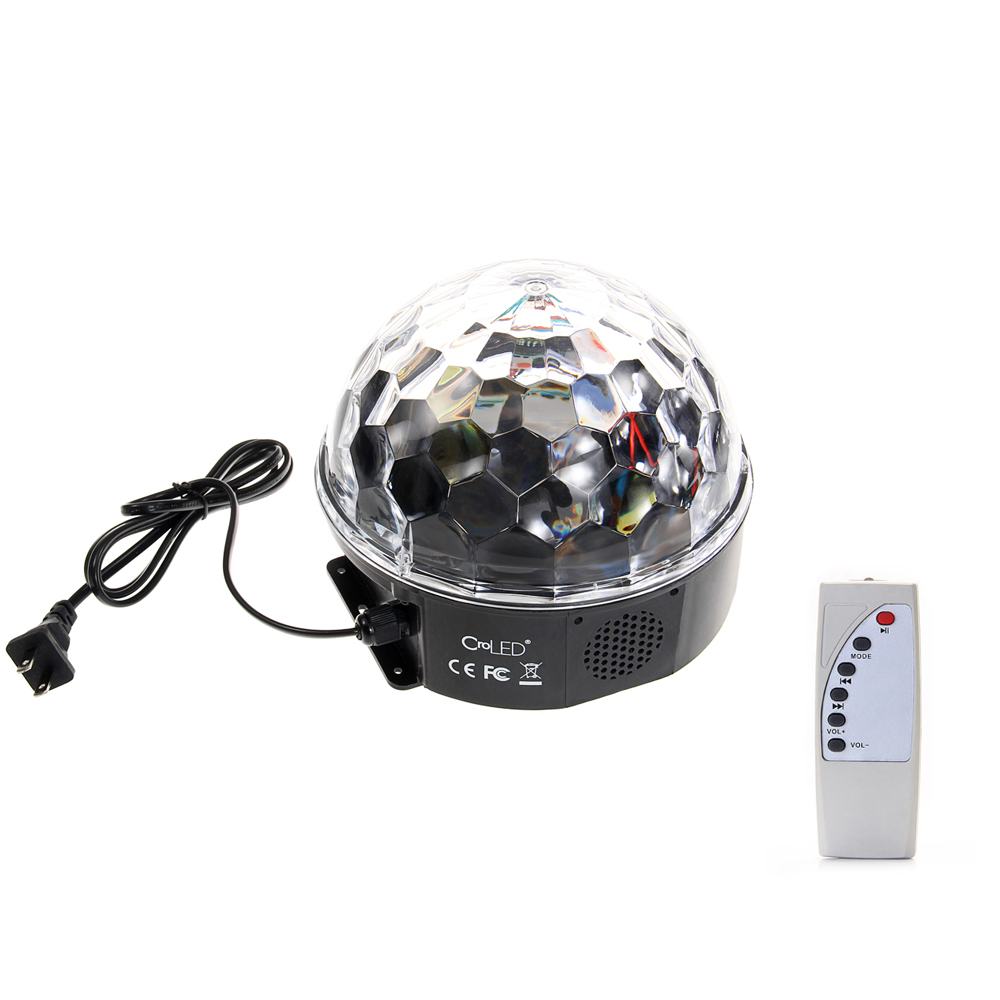 ( CODE:F4EDFV6D On Amazon US)Croled 12W RGB LED MP3 DJ Disco