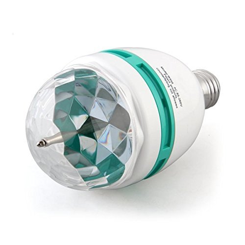 Stage Light, RGB LED Bulb Crystal Ball Bulb Rotating LED 3W