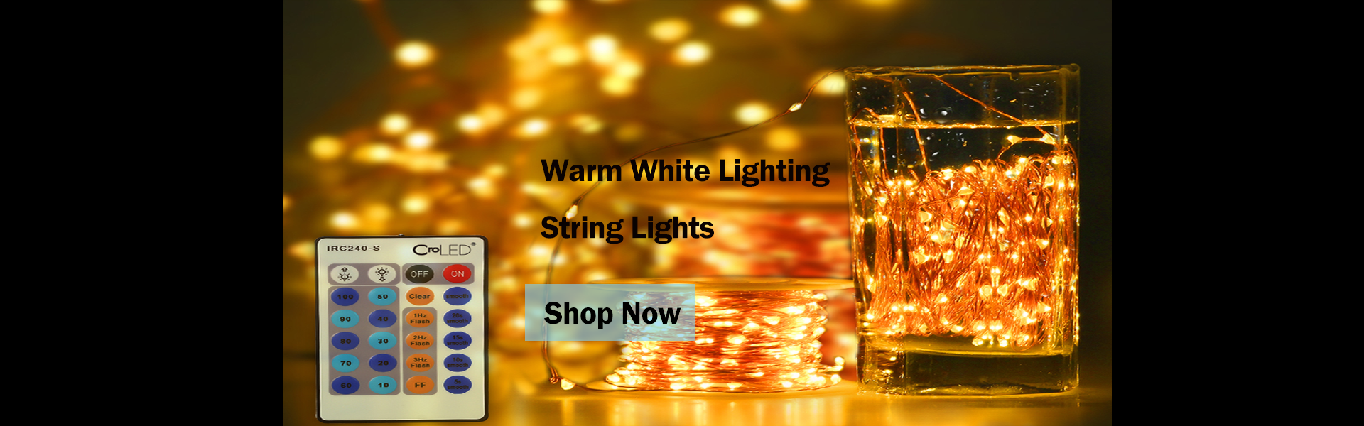 30M 300 LEDs Warm White Lighting String Lights dimmable IP65