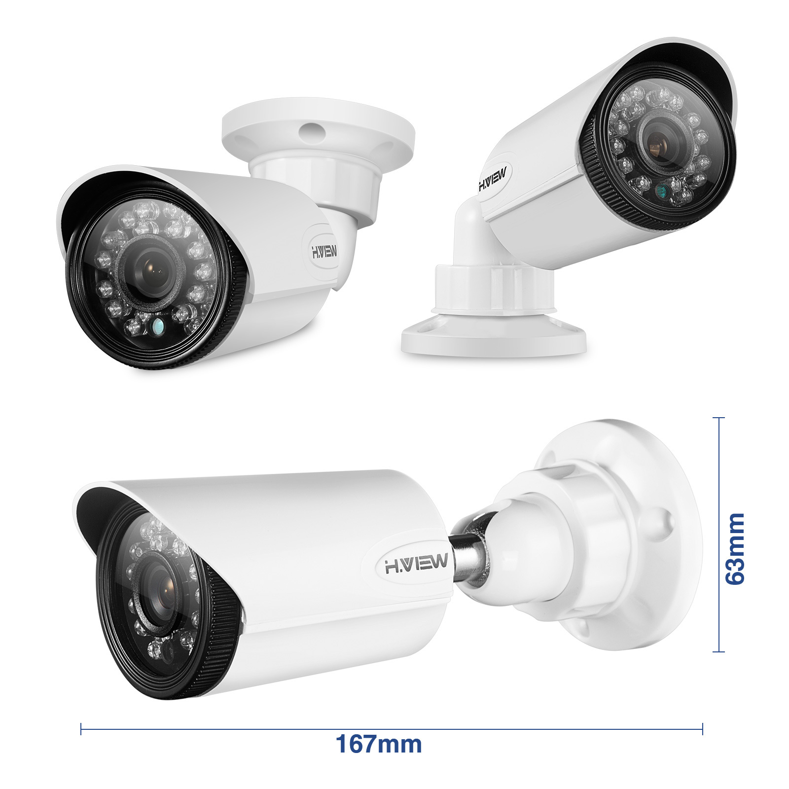 8CH HD Home Security Camera System 1TB HDD, H.VIEW 8-канальн