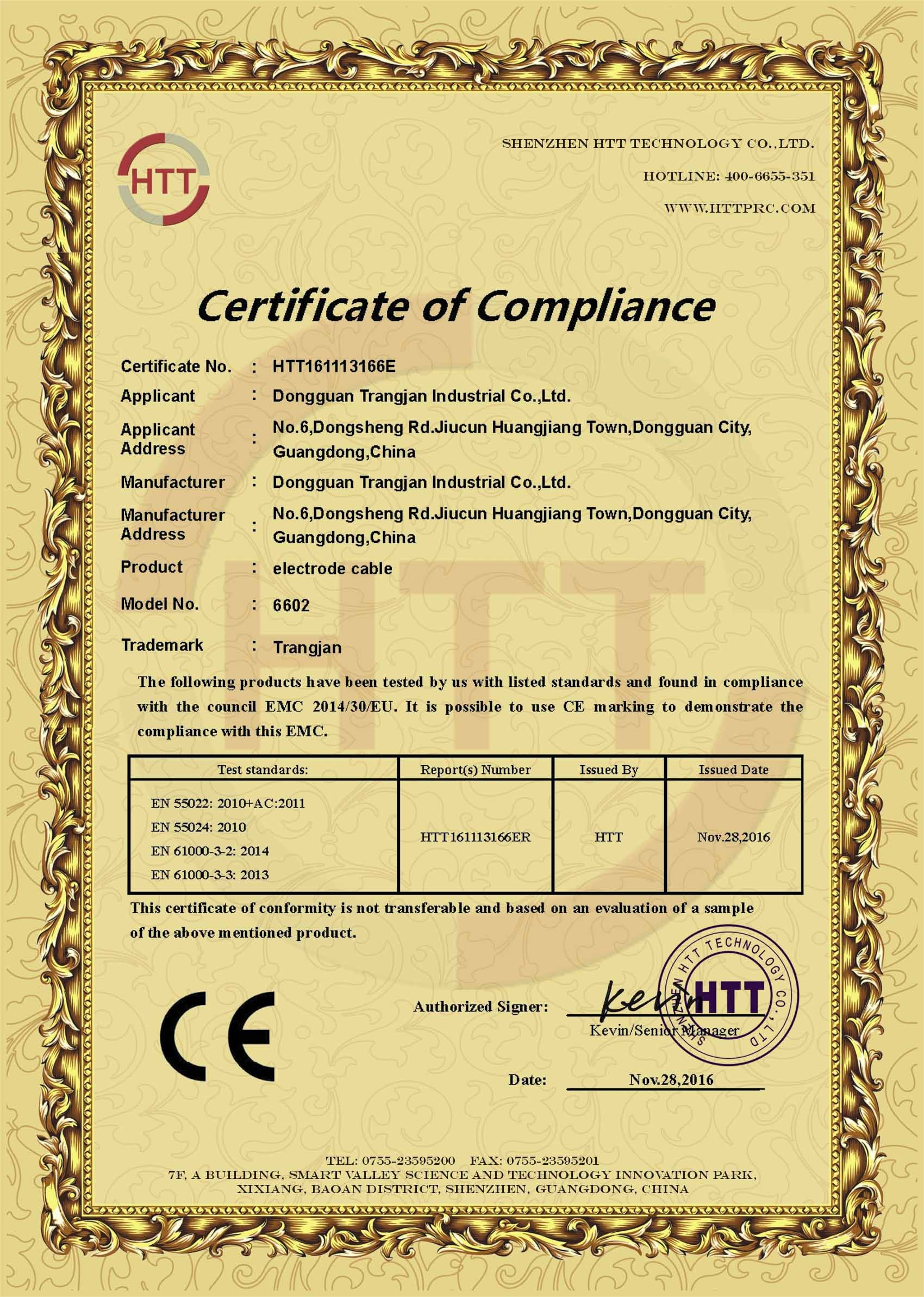 Electrodes Pad CE Certification
