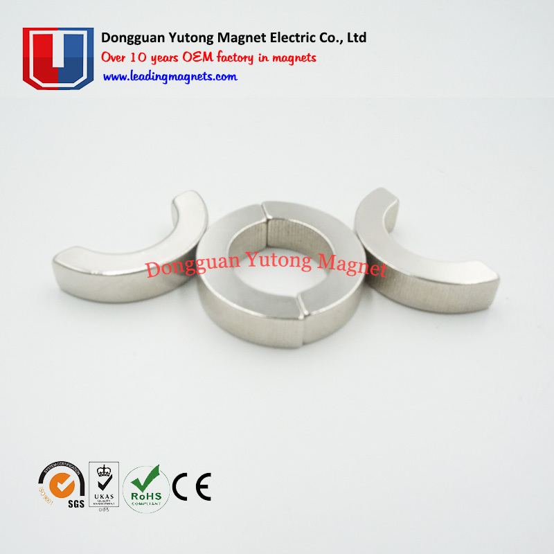 Customized Neodymium Motor Magnets  Arc magnets Segment Magn