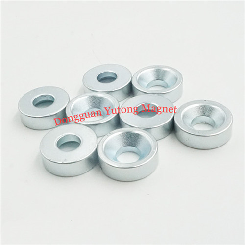 N35 Zinc Plating Ring Countersunk Permanent Rare Earth Magne