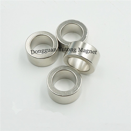 N35 Strong neodymium ring magnets Nickel Plating Ni-Cu-Ni