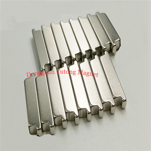 Neodymium stepped block magnets of podium shaped 30Lx8Wx8H m