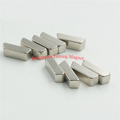 Trapezoidal Magnets for Tools  Nickel Plated Assembly Magnet