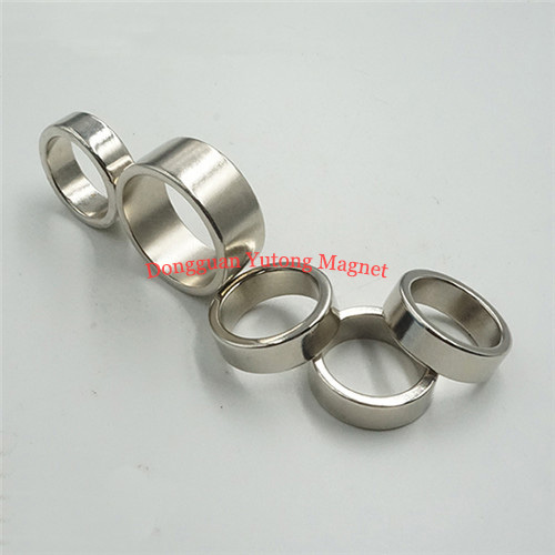 N38 Neodymium Ring Magnets, 20*13*5 MM, Nickel (Ni-Cu-Ni) Pl