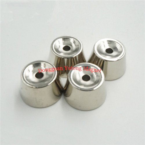 N42 NI-Cu-Ni plating Cone shape magnets for electric