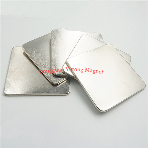 Neodymium N35 Super Thin square strong magnets  Nickel plate