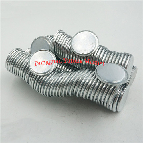 Neodymium single side magnets with steel cover Zinc Plated