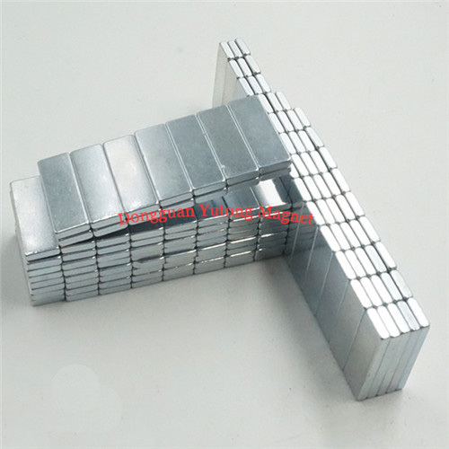 L50*W7*T1.5 mm Neodymium Block Magnets Zinc Plated for packa